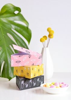 10 Printable Gift Boxes for When You're Out of Wrapping Paper via Brit + Co