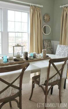 Post Holiday simple touches in Dining Room-City Farmhouse