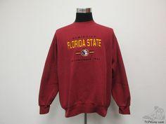 Vtg 90s Florida State Seminoles Crewneck Sweatshirt sz XL Extra Large FSU SEWN #Unknown #FloridaStateSeminoles #tcpkickz