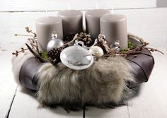 Adventskranz - Adventskranz,Weihnachtsdeko,Kerzen,Weihnachten, - ein Designerstück von Dekowerk bei DaWanda
