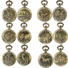 Bronze Animal Pocket Watch Unisex Chinese Zodiac Style Antique Necklace Chain Quartz Pocket Fob Watches Men Women Clock Relogio //Price: $9.95 & FREE Shipping //     #DRONE