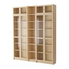 BILLY / OXBERG Bookcase, Birch Veneer