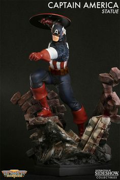 Sideshow Collectibles - Captain America Action Polystone Statue