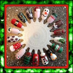 Christmas nail art designs #nailart #holidaysarecoming