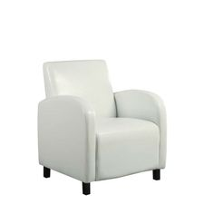 INSPIRE Q Albury White Faux Leather Chair With Ottoman By INSPIRE Q |  Upholstery, Chair And Ottoman Set And Chairs