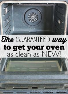 How to Clean Oven Glass so it looks Brand New!
