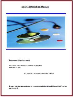 User Manual Template | Quality Assurance Manual Template Free Manual Templates Manual