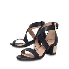 margot, black shoe by kg kurt geiger - women shoes sandals