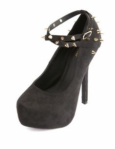 efaa83ca43b9 Spiked X-Front Platform Pump  Charlotte Russe Shoes Heels Boots