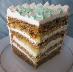 Zucchini lemon cake - Vegan