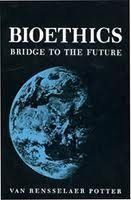 Bioethics: Bridge to the Future by Van Rensselaer Potter,http://www.amazon.com/dp/0130765058/ref=cm_sw_r_pi_dp_pK9Asb0AE0VEYF51