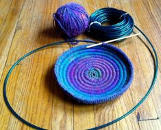 Crochet Bowl with Clothesline - Craftfoxes