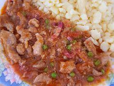 Borsos tokány nokedlivel   Babai János receptje - Cookpad receptek Fried Rice, Grains, Ethnic Recipes, Food, Essen, Meals, Seeds, Nasi Goreng, Yemek