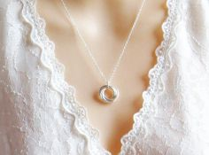 Valentines Day Love Knot Necklace Eternity by LeCharmeJewelry on Etsy, $22.50