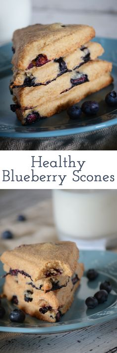 Healthy and delicious blueberry scones!  These are perfect for breakfast, brunch or just to snack on!  A few swaps make them healthier for you and oh so flaky
