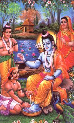 Kevat getting blessings of Lord Rama Shri Ram Wallpaper, Radha Krishna Wallpaper, Krishna Art, Radhe Krishna, Jay Shree Ram, Rama Lord, Hanuman Images, Lakshmi Images, Krishna Images