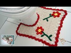 Jogo de Banheiro em Crochê Nature - Tapete do Vaso - YouTube