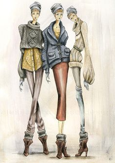 Allessandra Russo | Knitwear designer, fashion illustrations | these are stunning, more on her site