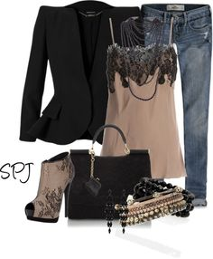 """Beads & Lace"" by s-p-j on Polyvore"