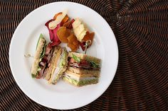 Bacon, cheese, turkey, and avocado are just a few of the sturdy ingredients in this mighty club sandwich. It should hold for several hours — that is, if you can wait that long before diving into the triple decker of bread.
