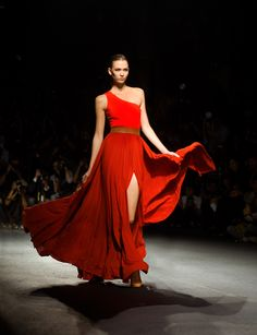 Karlie Kloss in Lanvin. This is the third time I'm pinning a photo of this dress but that's how much I love it. And Karlie Kloss is an amazing model, so I couldn't resist. (This photo is actually from back in October 2010.)