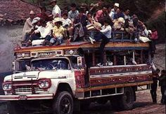 Colombia, SA This was used by farmers to transport goods now its used as a party or tour bus.