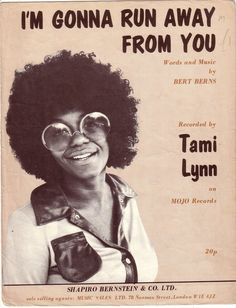 With a look that just screams seventies loud and proud. Go Tami go. Northern Soul, Keep The Faith, My Youth, Soul Music, Motown, Meant To Be, Sheet Music, Acting, Dj