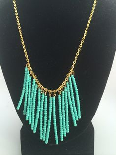 Turquoise statement necklace on Etsy, $16.00