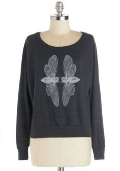 Cicada Serenity Sweatshirt | Mod Retro Vintage T-Shirts | ModCloth.com on Wanelo