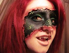 Makeup by a 20-Something: Lizard Within - Special Effects Makeup & Contacts #halloween