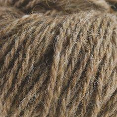 Sirri 3-draads breigaren van Faroer wol. Lichtbruin 031