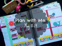 ✮ Plan with Me: Erin Condren Life Planner (May 18-24) ✮ - YouTube