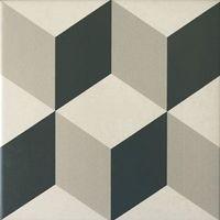 Carrelage imitation anciens carreaux de ciment décor cube 20x20 cm cérame