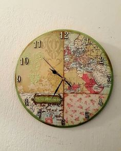 Ancient world map clock world clock and world maps decoupage ideas gumiabroncs Image collections