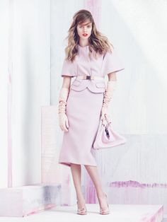 Cool Chic Style Fashion: Blush Editorial : Blush Hour Julia Frauche by Sebastian Kim for Allure October 2013!