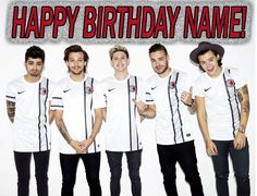 One Direction 2 Edible Birthday Cake Topper OR Cupcake Topper, Decor