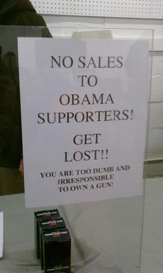 Oh gosh I love this, should be signs all over the country in every retail store!!! What a bunch of numbskulls!