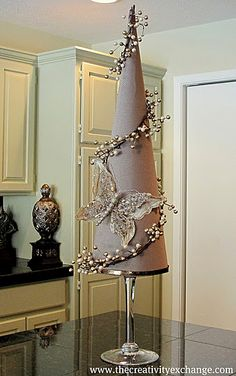 Fabric Covered Poster Board Tree Cones {Part 2}… | The Creativity Exchange
