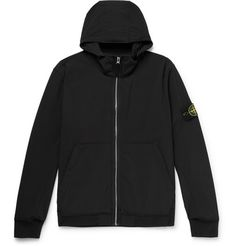 Stone Island's jacket is made from high-tech shell – it has an integrated weatherproof membrane and innovative outer layer for flexibility. Vest Jacket, Nike Jacket, Hooded Jacket, Stone Island Jacket, Fashion News, Mens Fashion, Island Man, Hoods, Designer Menswear