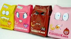 "Famous Mangakas Illustrate ""Caramel Corn"" Packaging"