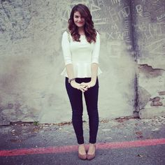 peplum shirt: forever 21    skinny jeans: urban outfitters