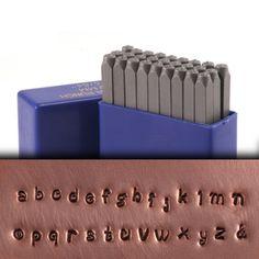 Beaducation: Tiny Dancer Lowercase Letter Stamp Set 5/64 (2mm) [SET040]