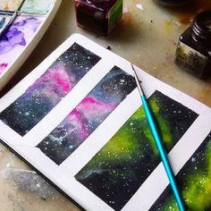 Watercolor galaxy, galaxy painting, galaxy art, diy painting, w Watercolor Art Face, Watercolor Art Landscape, Watercolor Art Lessons, Watercolor Galaxy, Watercolor Art Paintings, Galaxy Painting, Galaxy Art, Diy Painting, Watercolors