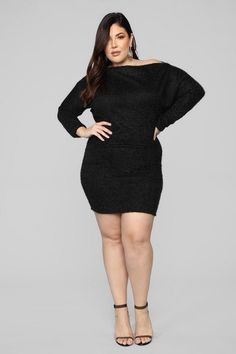 dc6e23d655e Plus Size Crazy In Love Sweater Dress - Black  29.99 PRODUCT DETAILS  Available In Black And
