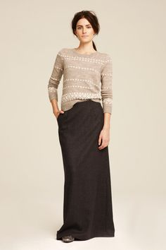 maxi skirt and a sweater. i have a feeling i'm going to be wearing alot of these this fall.