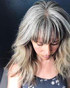 40 Best Hairstyles For Grey Hair That Make You Look 10 Years Younger - Bianca S ., - 40 Best Hairstyles For Grey Hair That Make You Look 10 Years Younger – Bianca S …, - Curly Hair Styles, Grey Curly Hair, Long Gray Hair, 40 Year Old Hair Styles, White Hair, Dark Grey Hair Color, Bold Hair Color, Hair Dye Colors, Over 40 Hairstyles