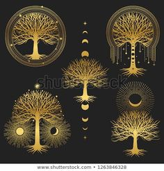 Find Sacred Tree Set Symmetrical Graphic Design stock images in HD and millions of other royalty-free stock photos, illustrations and vectors in the Shutterstock collection. Thousands of new, high-quality pictures added every day. Tree Graphic, Graphic Art, Graphic Design, Mundo Hippie, Cute Drawings Of Love, Celtic Art, Moon Art, Design Elements, Vikings