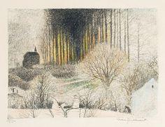 Léon Spilliaert, Light Between the Trees