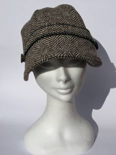 cloche invernale lana tweed cappello stile retro anni 30