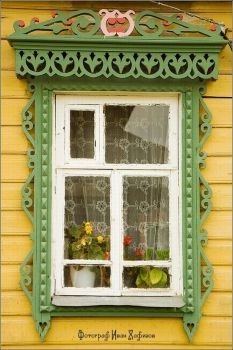 The window frames of Myshkin town, Russia Wooden Architecture, Russian Architecture, Architecture Details, Window Frames, Window Boxes, Wooden Windows, Windows And Doors, Ventana Windows, Gates